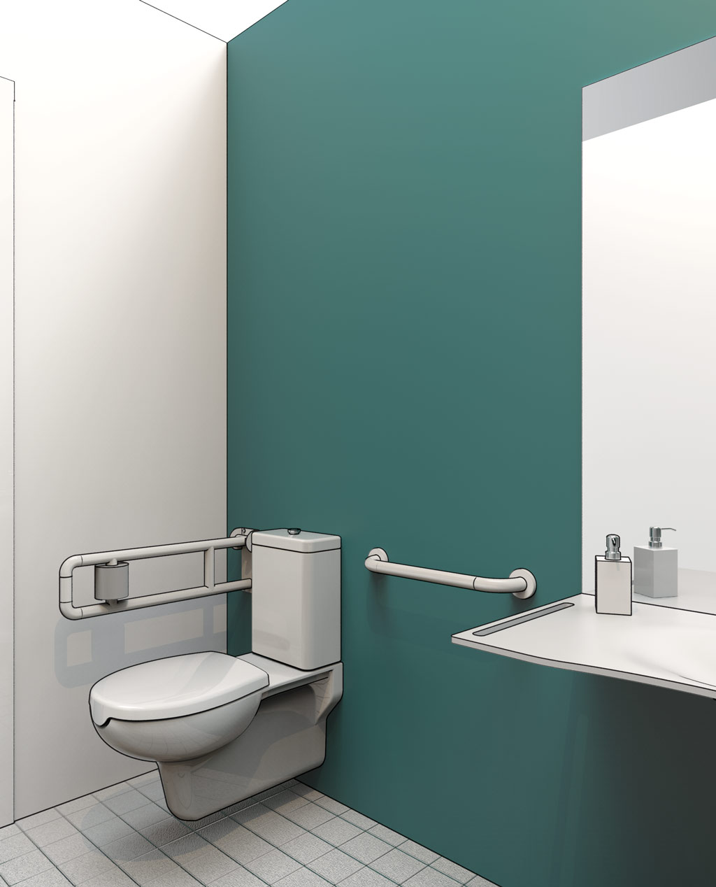 Bagno per disabili dwg design casa creativa e mobili - Accessori bagno disabili ...