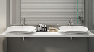 Countertop basin Prime, for hotel