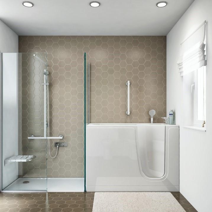 Vasca con sportello a milano goman - Vasca bagno con doccia ...